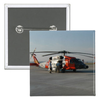 Coast Guard Helicopter 2 Inch Square Button