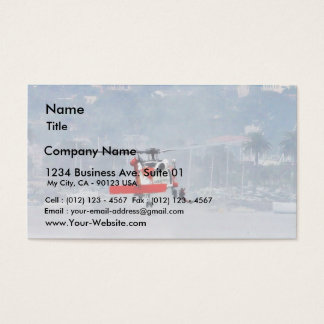 Coast Guard Helicopter Business Card