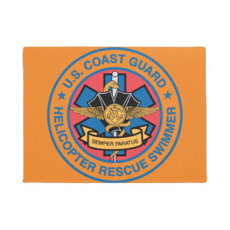 Coast Guard Helicopter Rescue Swimmer Doormat