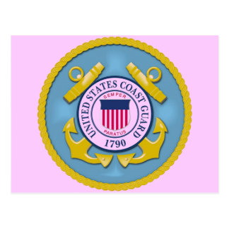 COAST GUARD INSIGNIA POSTCARD