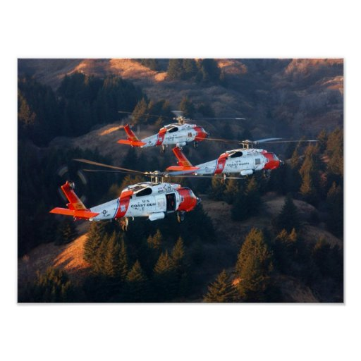 Coast Guard MH-60 Jayhawk Helicopters Poster