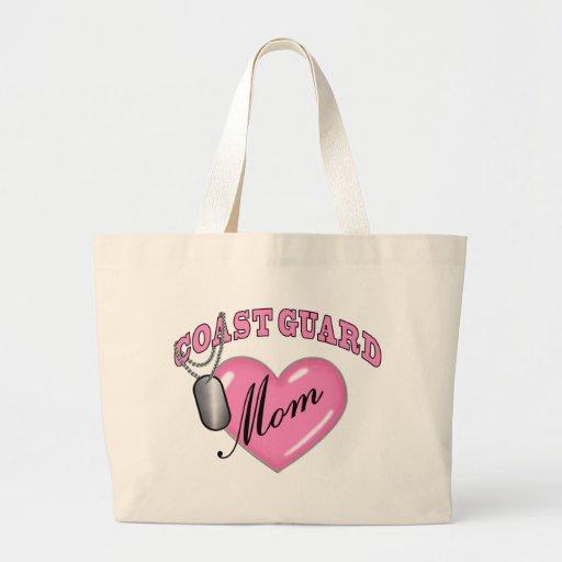 Coast Guard Mom Heart N Dog Tag Canvas Bag