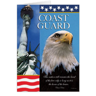 Coast Guard  Patriotic Troop Support Card