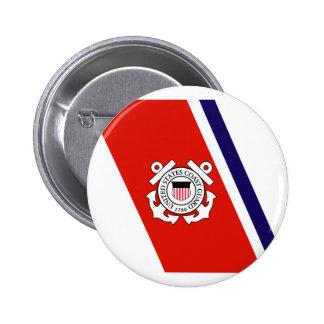 Coast Guard Racing Stripe - Left 2 Inch Round Button