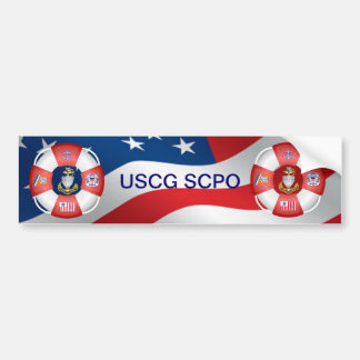 Coast Guard SCPO Life-Ring Bumper Sticker