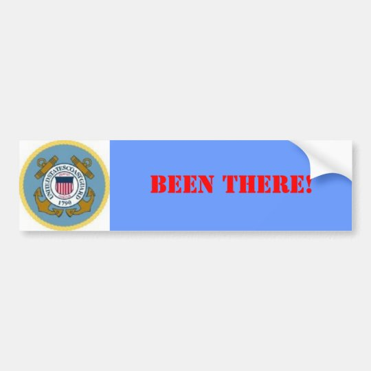 COAST GUARD SEAL, BEEN THERE! BUMPER STICKER