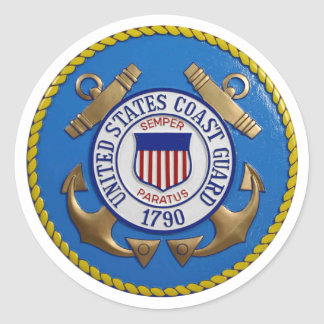 Coast Guard Seal Round Sticker