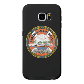 "Coast Guard Station Miami Beach ""Black Case"" Samsung Galaxy S6 Cases"
