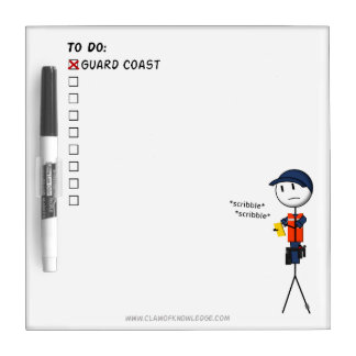 Coast Guard To-Do List Dry Erase Board