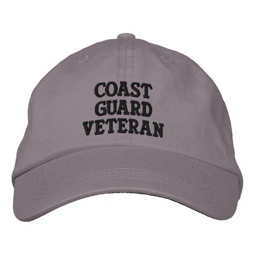 Coast Guard Veteran Embroidered Hats