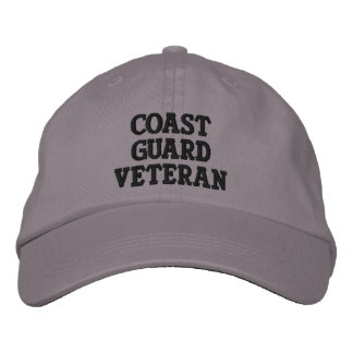 Coast Guard Veteran Embroidered Hats