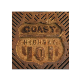 Coast Highway 101 Iron work by Julie Ann Stricklin Wood Wall Decor