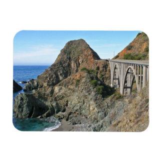 Coast Highway 1 - Big Creek Bridge Rectangular Photo Magnet