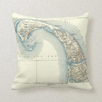 Coast Lines Provincetown Truro and Wellfleet Throw Pillow