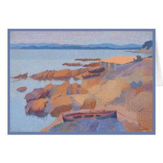 """Coast near Antibes"" by Henri Edmond Cross Card"