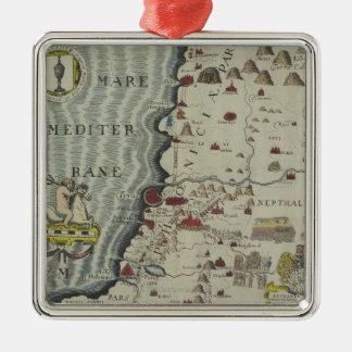 Coast of Phoenicia Silver-Colored Square Ornament