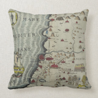 Coast of Phoenicia Throw Pillow