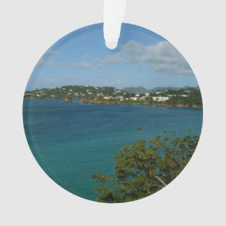 Coast of St. Lucia Caribbean Vacation Photo Ornament