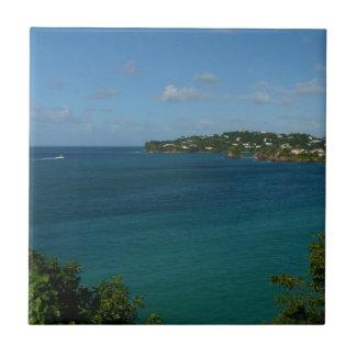 Coast of St. Lucia Caribbean Vacation Photo Tile
