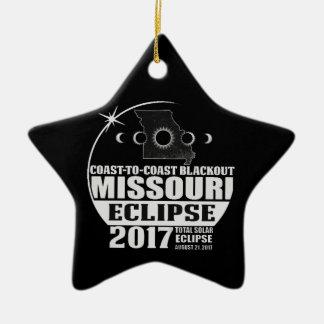 Coast to Coast Missouri Eclipse 2017 Ceramic Ornament