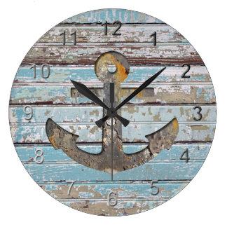Coastal Anchor Large Clock