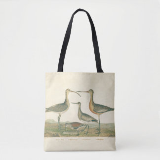 Coastal Antique Birds Audubon Marsh Tote Bag