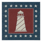 Coastal Art | Lighthouse on Red Poster