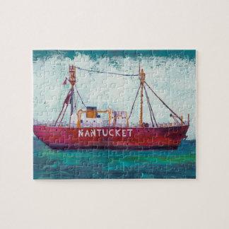 Coastal Art | Nantucket Lightship Jigsaw Puzzle