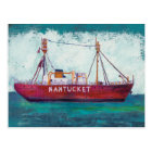 Coastal Art | Nantucket Lightship Postcard