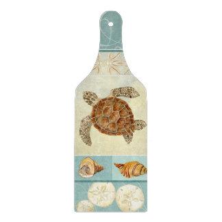 Coastal Beach Ocean Seashore Collage Sea Turtle Cutting Boards