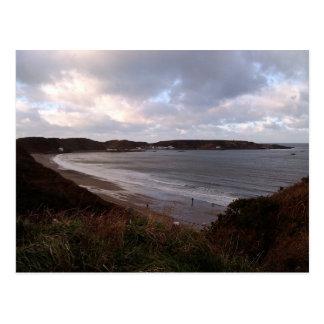 Coastal beach scene, Morfa Nefyn Postcard
