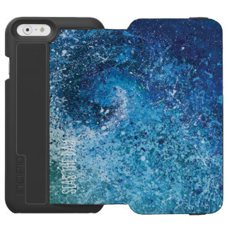 Coastal Beach Wave Abstract Art Incipio Watson™ iPhone 6 Wallet Case