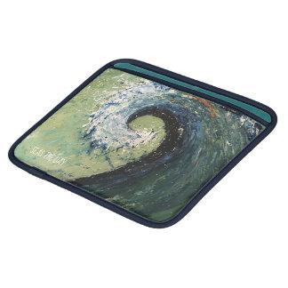 Coastal Beach Wave Abstract Art iPad Sleeve