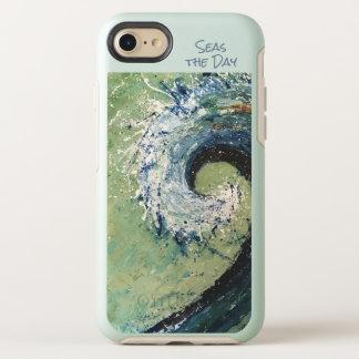 Coastal Beach Wave Abstract Art OtterBox Symmetry iPhone 8/7 Case