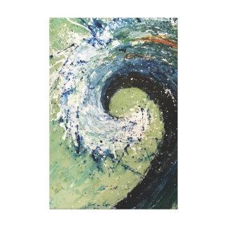Coastal Beach Wave Fine Art Painting Canvas Print