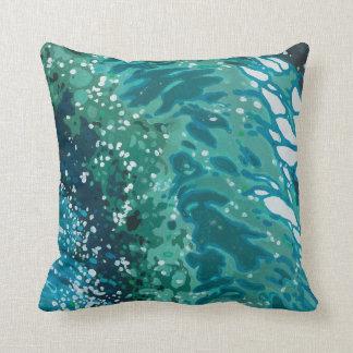 Coastal Beach Waves Decor Pillow by Juul