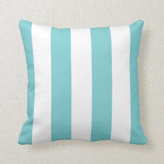 Coastal Blue Awning Stripe Throw Pillow