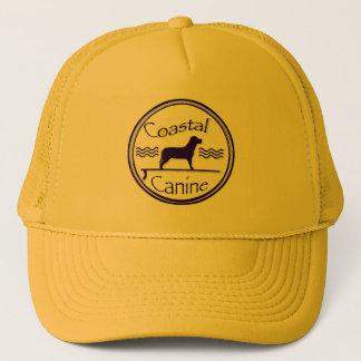 coastal canine logo trucker hat