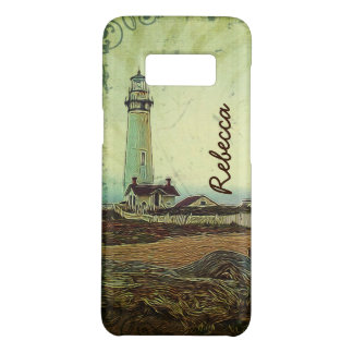 Coastal chic oil painting landscape lighthouse Case-Mate samsung galaxy s8 case