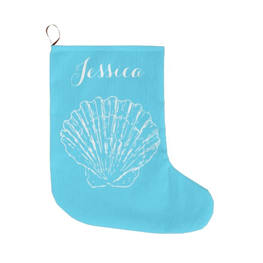 Coastal Christmas Scallop Stocking