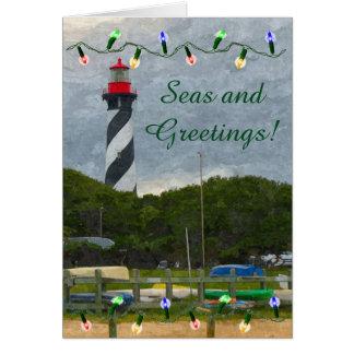 Coastal Christmas St. Augustine Lighthouse Card