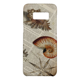 coastal conch vintage seashell botanical print Case-Mate samsung galaxy s8 case