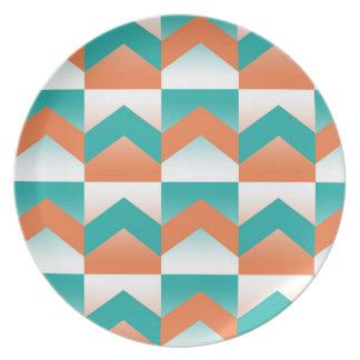 Coastal Coral Party Plates