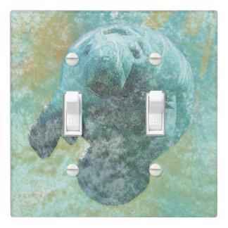 Coastal Decor | Manatee Double Light Switch Cover