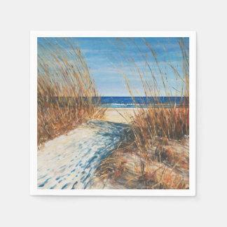 Coastal Decor Sand Dunes Beach Art | Napkins Disposable Napkins