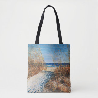 Coastal Decor Sand Dunes Beach Art | Tote Bag