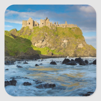 Coastal Dunluce castle, Ireland Square Sticker