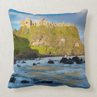 Coastal Dunluce castle, Ireland Throw Pillow