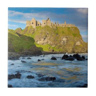 Coastal Dunluce castle, Ireland Tile