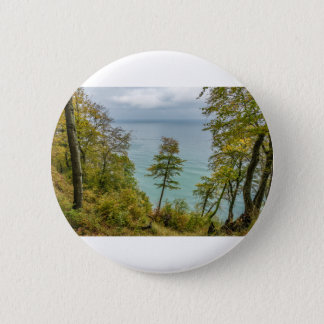 Coastal forest on the Baltic Sea coast 2 Inch Round Button